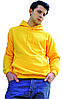 Мужская худи желтого цвета с капюшоном