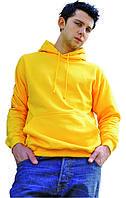 Мужская худи желтого цвета с капюшоном, фото 1