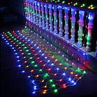 Гирлянда сетка светодиодная 480 LED, Мультицветная, прозрачный провод, 5х1м., фото 2