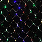 Гирлянда сетка светодиодная 480 LED, Мультицветная, прозрачный провод, 5х1м., фото 4