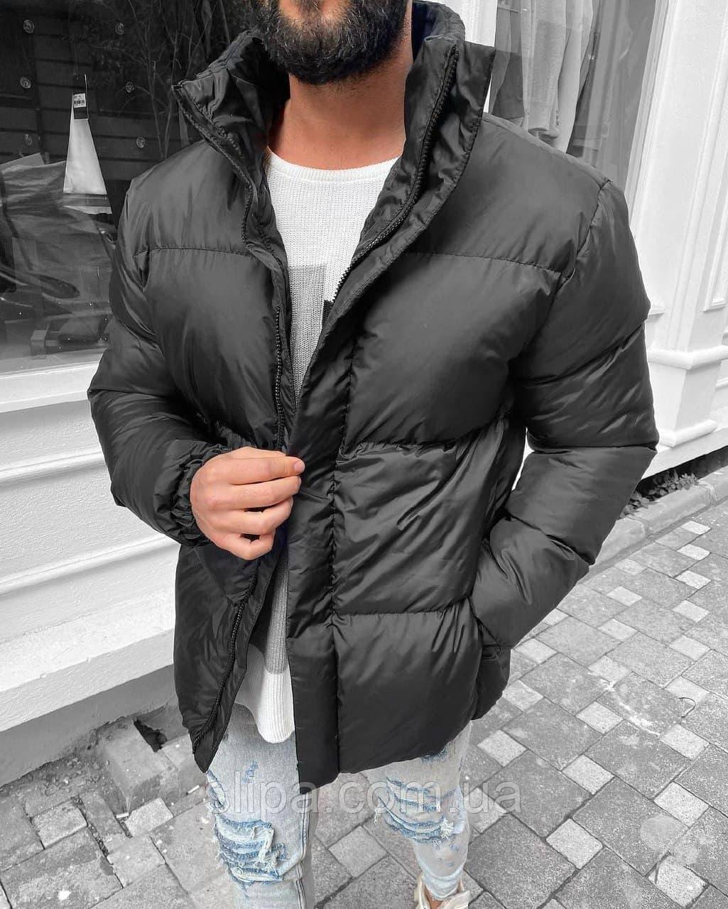 Мужская зимняя куртка из плащёвки THE RISING серая, холлофайбер ( Турция )