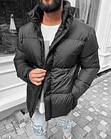 Мужская зимняя куртка из плащёвки THE RISING серая, холлофайбер ( Турция ), фото 1