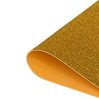 Фоамиран 2мм глиттерный 50х50 см золотой 2311