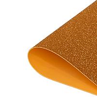 Фоамиран 2мм глиттерный 50х50 см оранжевый золото 1903