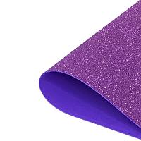 Фоамиран 2мм глиттерный 50х50 см фиолетовый 1919