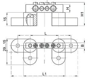"Шина N ""ноль"" на двух угловых изоляторах ШНИ-6х9-24-У2-С IEK, фото 2"