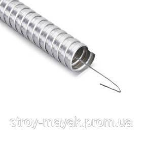 Металлорукав с протяжкой, оцинкованый D 32 мм, 1м Mutlusan