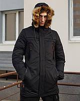 Зимняя мужская парка LIA черная