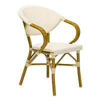 Кресло с подлокотниками Bambus,из текстилена для ресторанов и кафе
