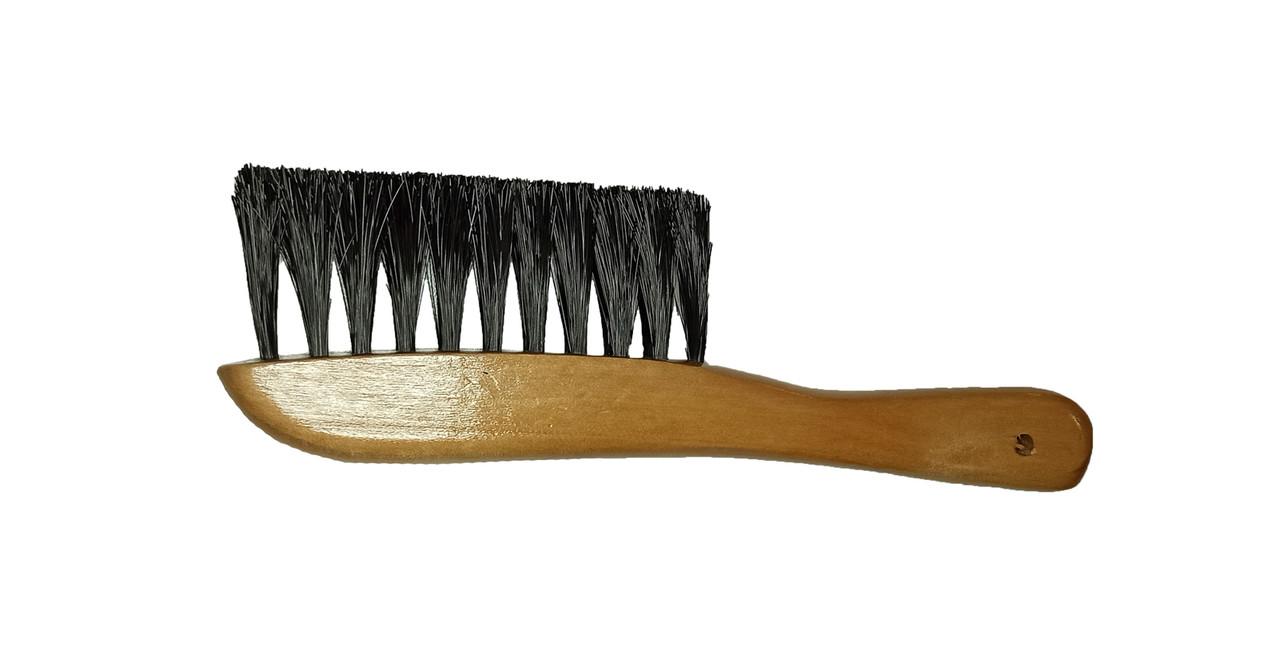 Щётка с ручкой деревянная