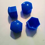 Защитные колпачки на колесные гайки 17 мм пластик синие, фото 2