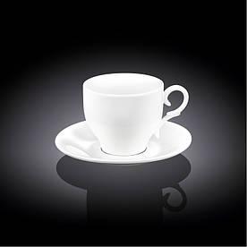 Чашка кавова з блюдцем на 90 мл Wilmax WL-993103