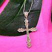 Серебряный крестик с фианитами - Крестик с камнями серебро, фото 2