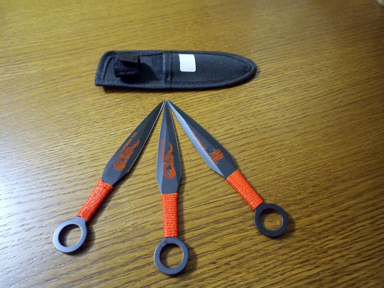 Набор метательных ножей 722 Дракон в чехле