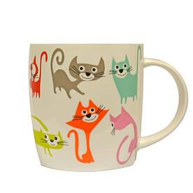 Чашка 415 мл Різнокольорові коти Keramia 21-272-033