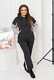Стильный и тёплый прогулочный костюм - толстовка+штаны, разные цвета р.48-50,52-54,56-58,60-62,64-66 Код 3382Ф, фото 4