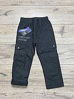 Утепленные штаны из водоотталкивающей ткани на флисе. 4 года.