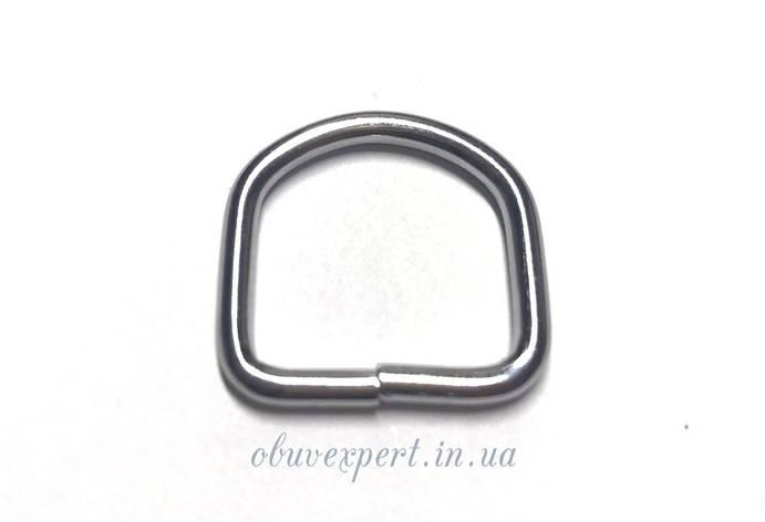Полукольцо сварное 20*20 мм, толщ. 2,9 мм, Хром, фото 2