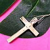 Серебряный католический крестик - Крестик католический серебро 925 с камнями, фото 4