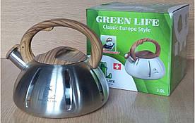 Чайник металевий Green Life GL-5203 BR