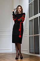 Вязаное платье Милана  (44-54) красный
