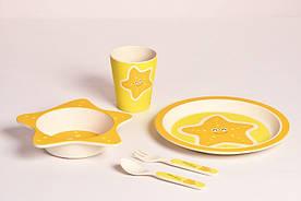 Дитячий набір посуду 5 пр морська зірка Con Brio СВ-253