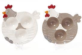Подставка для 3 яиц керамическая Курочка Bona Di 834-741