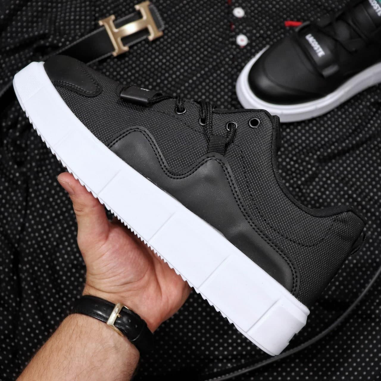 Кроссовки Lacoste Black And White  40|41|42|43|44