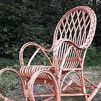 Кресло качалка плетёная из лозы