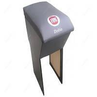 Підлокітник мод. Fiat Doblo 10 - з логотипом чорний