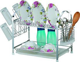 Двухъярусная сушилка для посуды 44х25,3х36 см Empire M-9786