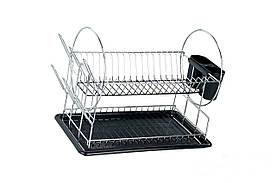 Настольная двухъярусная сушилка для посуды 385х230х357 мм Empire M-9788