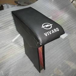 Підлокітник мод. Opel Vivaro (1+2) вузький з логотипом чорний