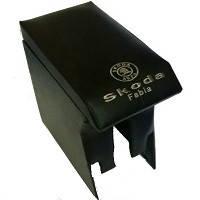 Підлокітник мод. Skoda Fabia 00-07-15 з логотипом чорний