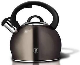 Чайник со свистком 3 л Metallic Line CARBON Berlinger Haus BH-1789