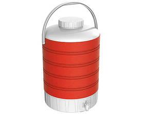 Термос диспенсер для розливу напоїв 15 л червоний Kale Mazhura MZ-1006-RED