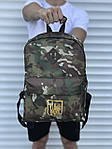 Спортиный мужской рюкзак камуфляжный с гербом, фото 2