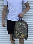 Спортиный мужской рюкзак камуфляжный с гербом, фото 4
