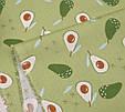 Сатин (хлопковая ткань) авокадо на зеленом (55*160), фото 4