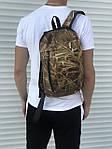 Черный спортивный рюкзак, камыш, фото 2