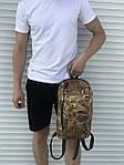 Черный спортивный рюкзак, камыш, фото 3