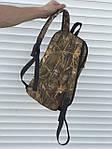 Черный спортивный рюкзак, камыш, фото 4