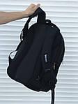 Большой черный рюкзак для школы или спорта, фото 2