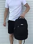 Большой черный рюкзак для школы или спорта, фото 3