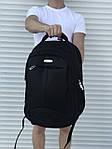 Большой черный рюкзак для школы или спорта, фото 4