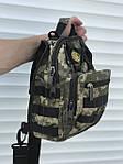 Черная надежная сумка через плечо, камфляжная, фото 2