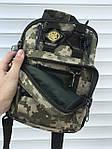 Черная надежная сумка через плечо, камфляжная, фото 5
