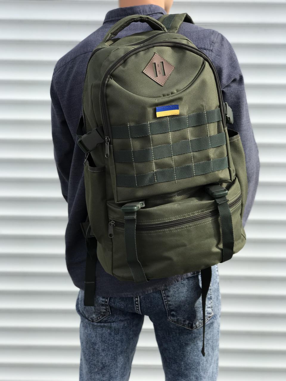 Качественный тактический рюкзак на 40 литров, хаки