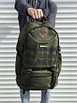 Качественный тактический рюкзак на 40 литров, хаки, фото 2