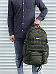 Качественный тактический рюкзак на 40 литров, хаки, фото 3